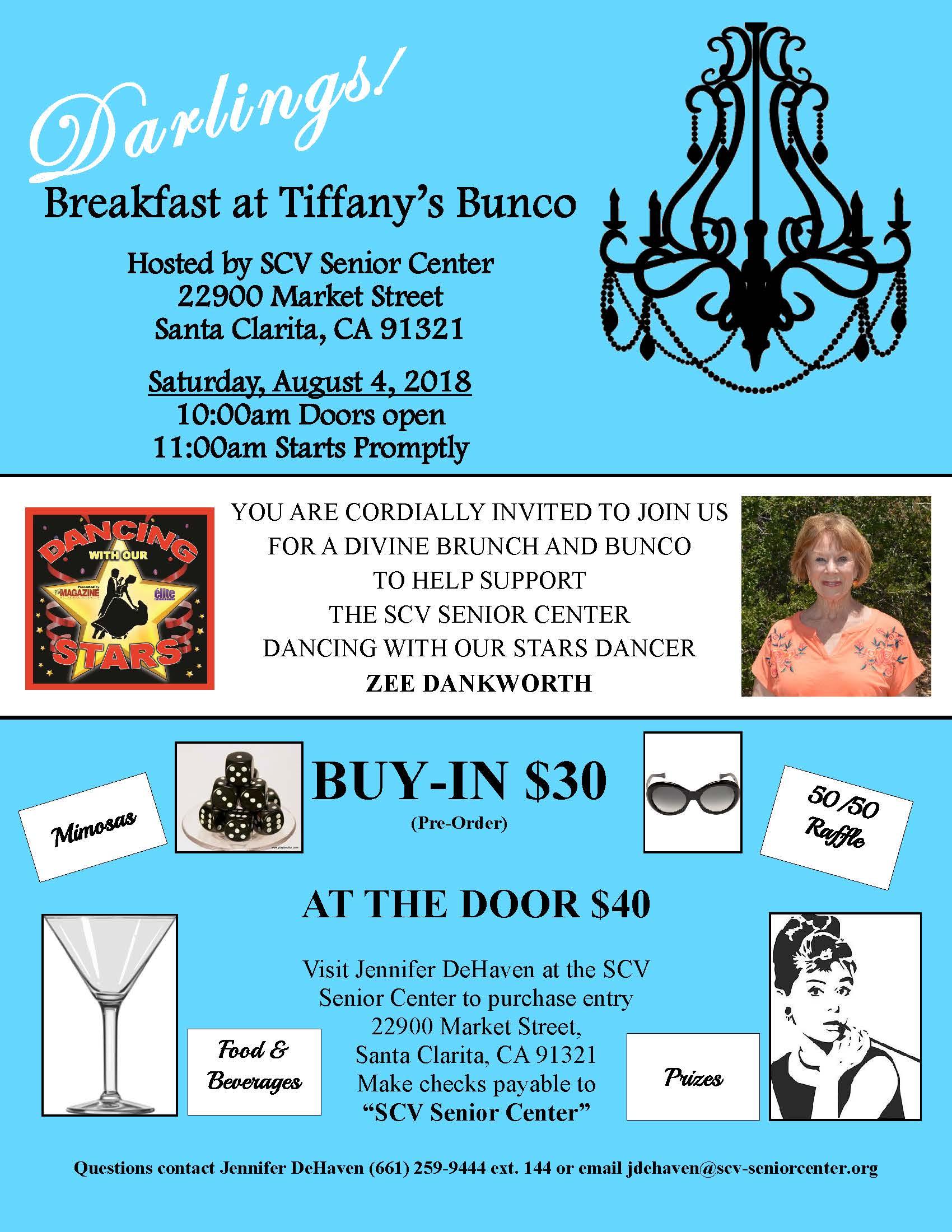 Breakfast at Tiffany's Bunco 8-4