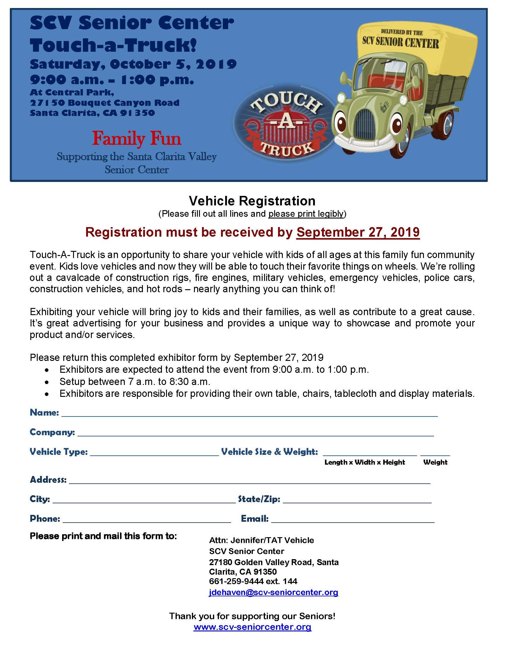 Vehicle Reg Form TAT 2019 - Fillable