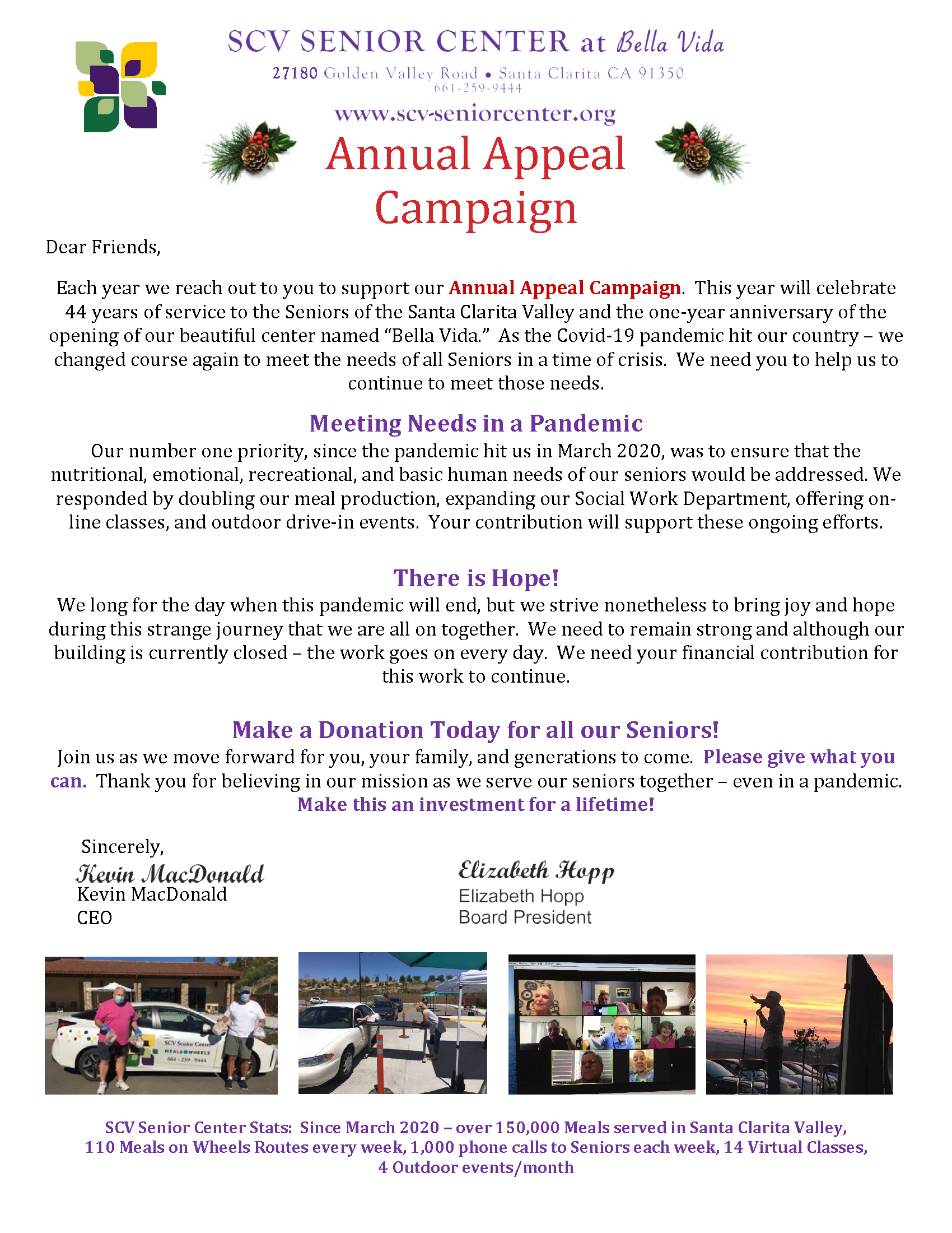 2020 Annual Appeal letter