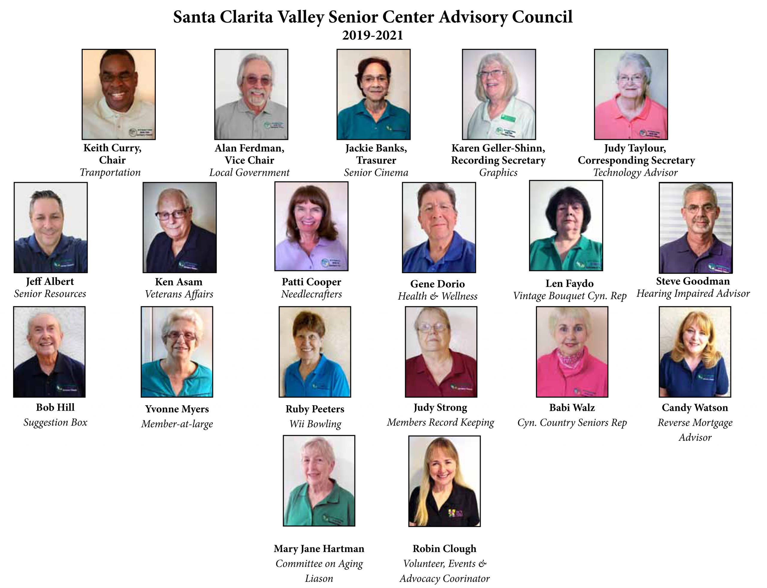 pictures of the santa calrita valley senior center advisory council
